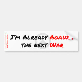 Estoy ya contra guerra etiqueta de parachoque