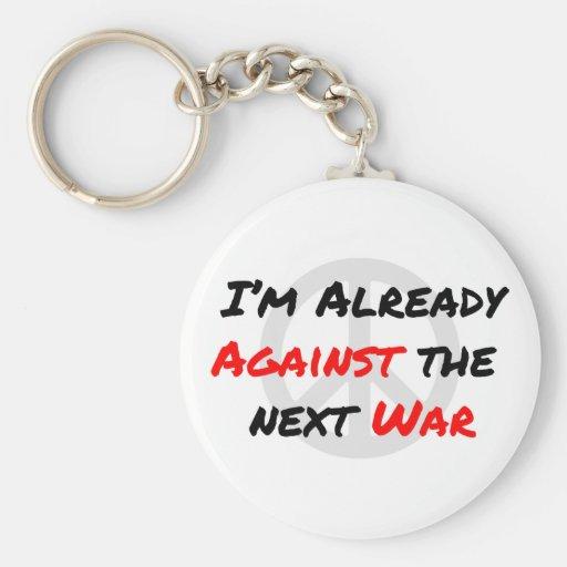 Estoy ya contra guerra llaveros