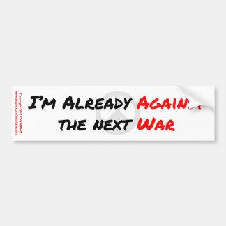 Estoy ya contra guerra pegatina para auto