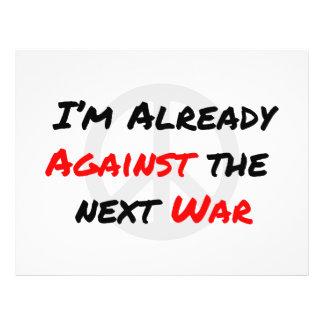 Estoy ya contra guerra tarjetones