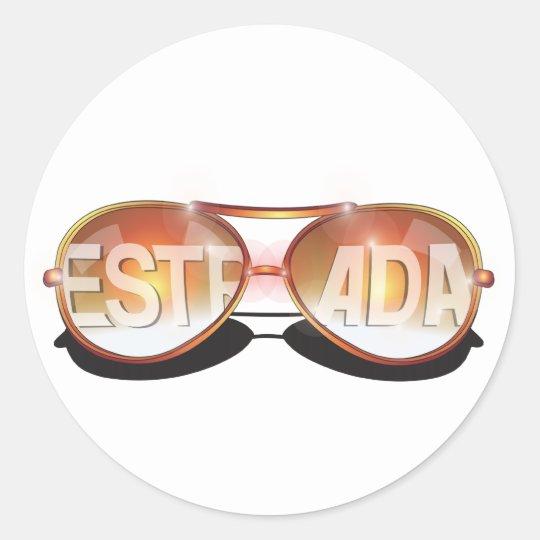Estrada Classic Round Sticker