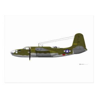 Estrago de Douglas A-20K Postales