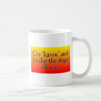 Estrago del grito taza de café
