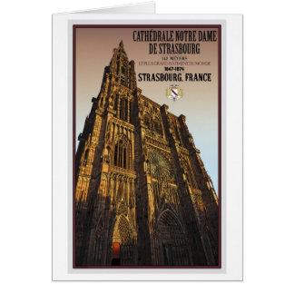 Estrasburgo - catedral Notre Dame Tarjeta De Felicitación
