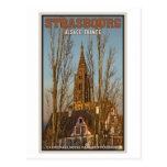 Estrasburgo - catedral y árboles postal