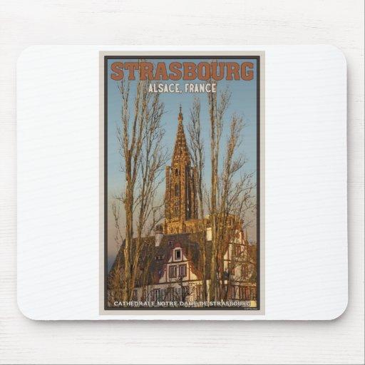 Estrasburgo - catedral y árboles alfombrillas de ratón