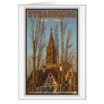 Estrasburgo - catedral y árboles tarjeton