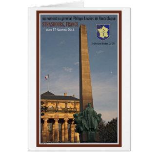Estrasburgo - monumento a Marechal Leclerc Tarjeta De Felicitación