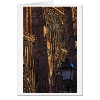 Estrasburgo - primer de la catedral tarjeta de felicitación