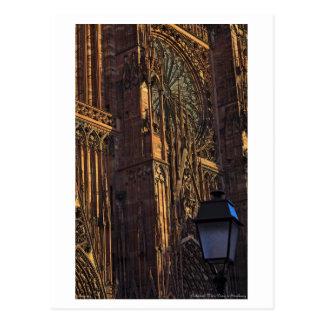 Estrasburgo - primer de la catedral tarjeta postal