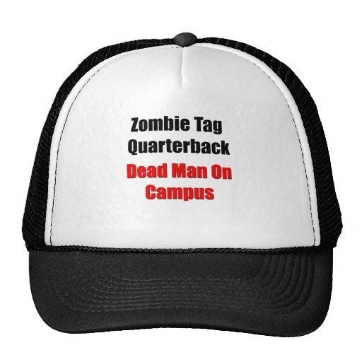 Estratega de la etiqueta del zombi gorra