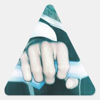 Estrategia de marketing y Vision innovador Pegatina Triangular