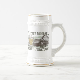 Estrategia del proyecto del fútbol de la fantasía jarra de cerveza
