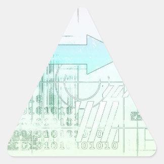 Estrategia empresarial del márketing como concepto pegatina triangular