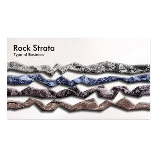 Estratos 03 de la roca - perla tarjetas de visita