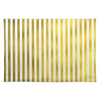 Estrecho blanco de las rayas verticales del falso manteles