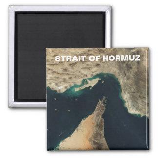 Estrecho de la imagen del satélite de Hormuz Imán