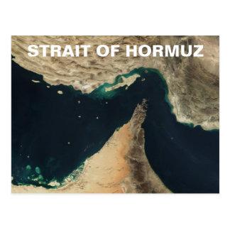 Estrecho de la imagen del satélite de Hormuz Tarjetas Postales