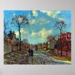 Estrecho de Louveciennes de Camille Pissarro Posters