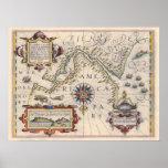 Estrecho de Magallanes De Jodocus Hondius - 1606 Posters