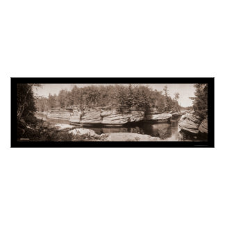 Estrechos de la foto 1900 de los Dells de los WI Póster