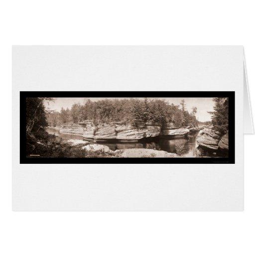 Estrechos de la foto 1900 de los Dells de los WI Tarjeta De Felicitación