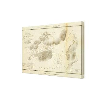 Estrechos de la isla de la yegua, Calif Impresión En Lona Estirada