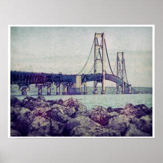 Estrechos de Mackinac Póster