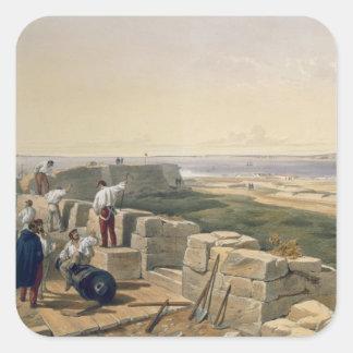 Estrechos de Yenikale, placa 'de Seat de la guerra Pegatina Cuadrada