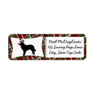 Estrela Mountain Dog Christmas Return Address Labels