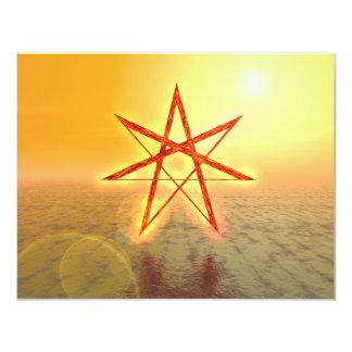 """Estrella 01 de Elven Invitación 4.25"""" X 5.5"""""""