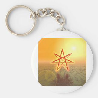 Estrella 01 de Elven Llavero Redondo Tipo Pin