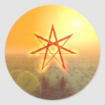 Estrella 01 de Elven Pegatina Redonda