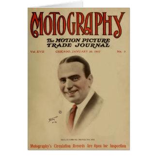 Estrella 1917 de la película muda de Douglas Fairb Tarjeta De Felicitación