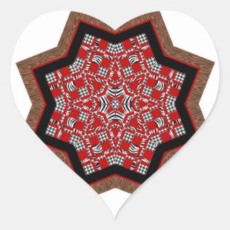 Estrella #1 del edredón pegatina en forma de corazón