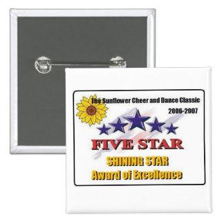 Estrella 2007 del girasol cinco pins