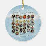Estrella 2012 del ornamento de la esperanza ornamento de navidad