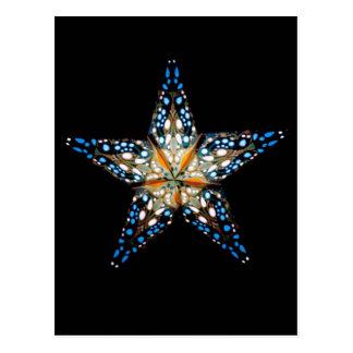 Estrella #2 ligero tarjeta postal