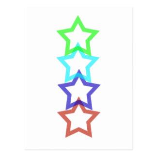 estrella 4 postal