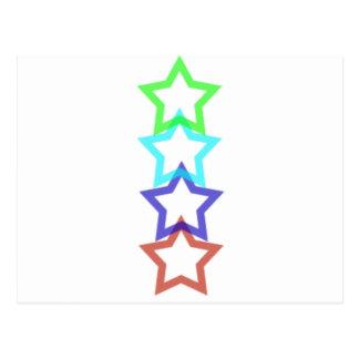 estrella 4 tarjetas postales