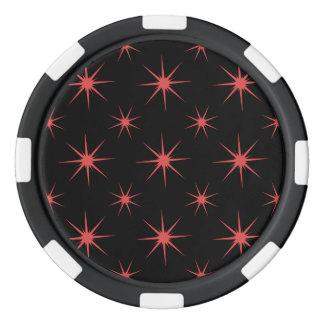 Estrella 5 Pimienta Juego De Fichas De Póquer