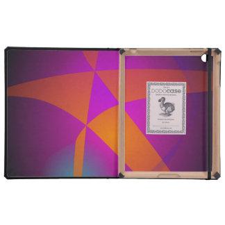 Estrella abstracta anaranjada grande iPad fundas