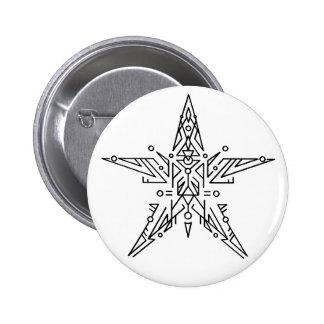 Estrella abstracta pins