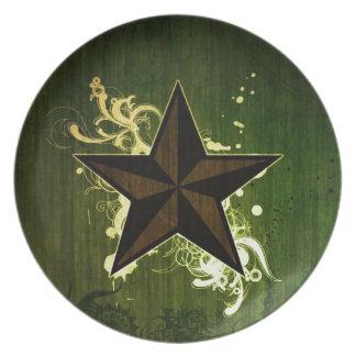 Estrella abstracta plato de comida