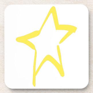 Estrella abstracta posavasos de bebida