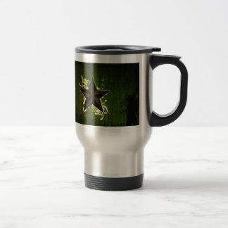 Estrella abstracta taza de café