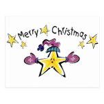 Estrella acogedora de las Felices Navidad Postal