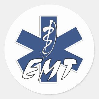 Estrella activa de EMT de la vida Pegatinas Redondas