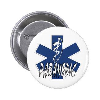 Estrella activa del paramédico de la vida pin