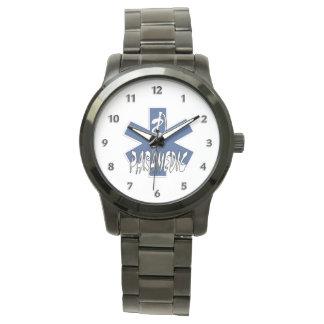 Estrella activa del paramédico de la vida relojes de pulsera
